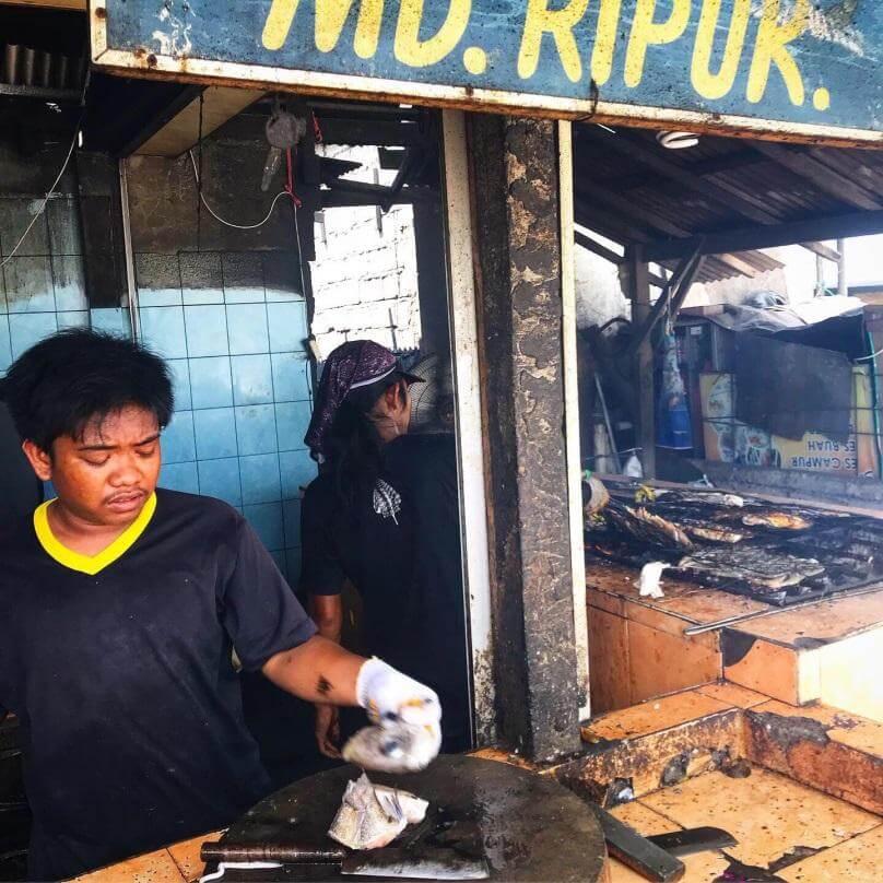 Poisson grillé à Bali