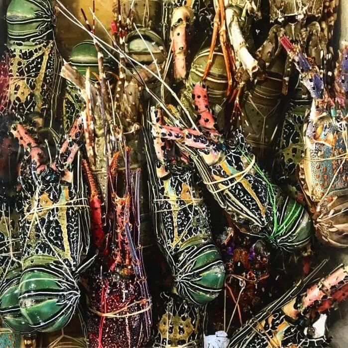 Marché aux poissons à Bali