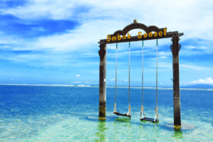 Balançoire sur la Plage de Lombok Gili Trawangan