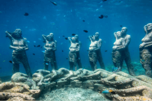 Statues sous marine à Lombok Gili Trawangan