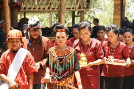 Ceremonie toraja en sulawesi