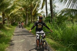 Ballade en vélo dans la campagne balinaise