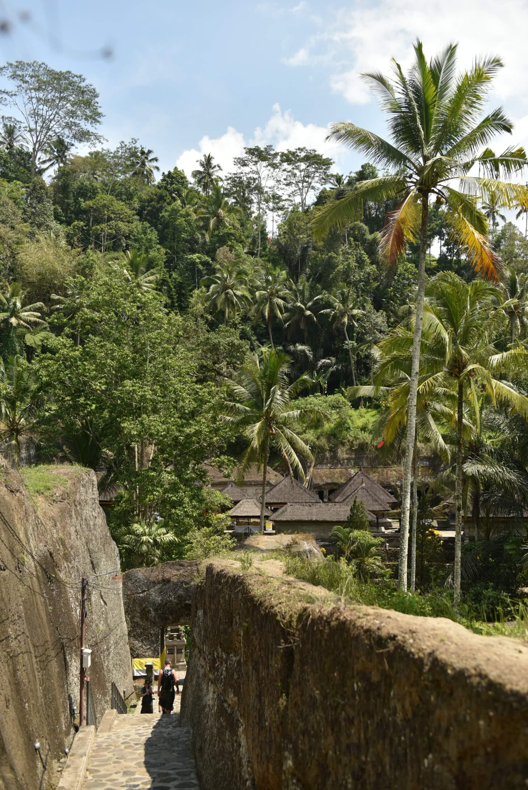 Chemin menant au temple gunung kawi