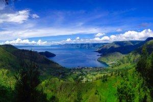 Le lac Toba à Sumatra