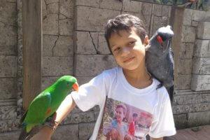 Bali Parc aux oiseaux en famille