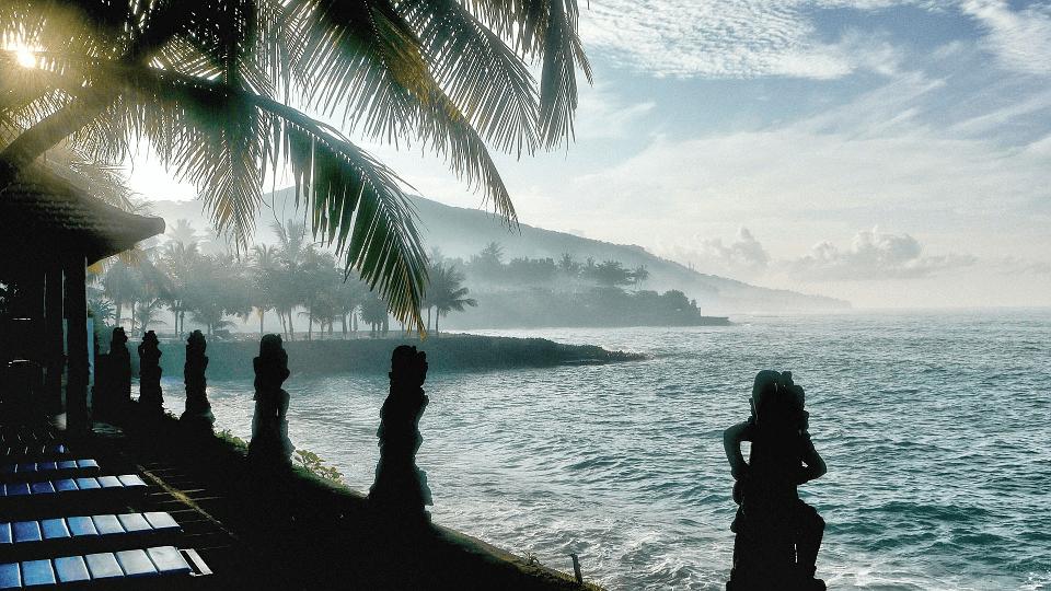 La plage de Candidasa à Bali