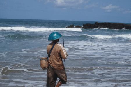 Pêche en Surf Casting plage de Batu Bolong à Bali