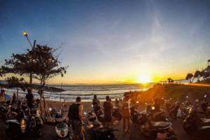 Plage de Batu Bolong à Canggu en Indonesie