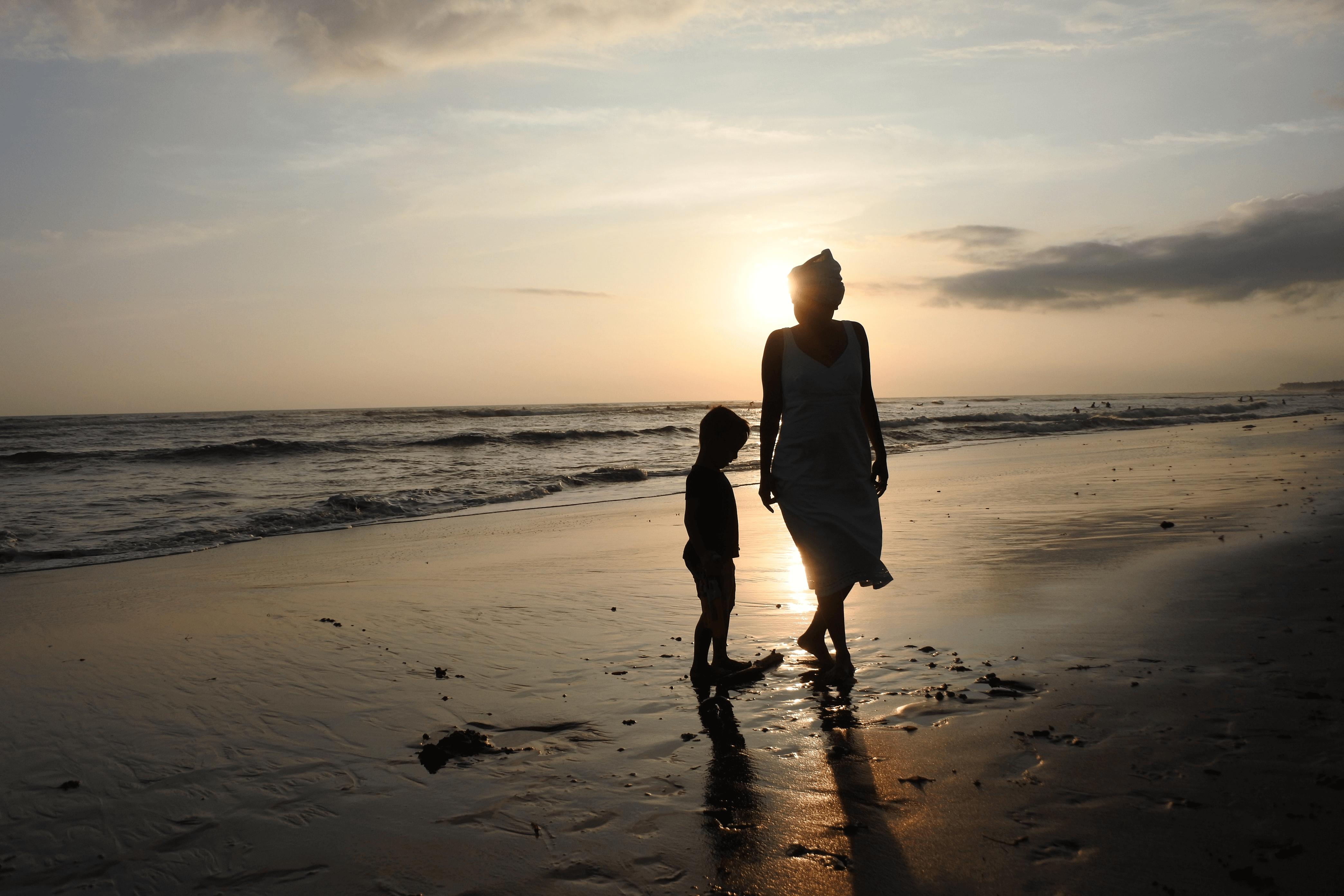 Coucher de soleil plage de Canggu à Bali