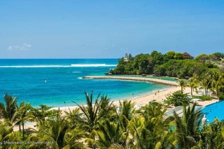 La plage de Nusa Dua à Bali