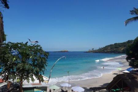 La plage de Pasir Putih à Bali