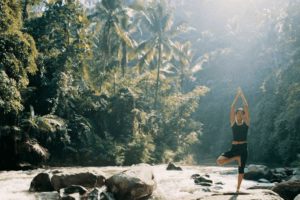 yoga en pleine nature d'ubud