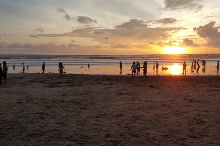 Couché de soleil à Kuta Bali