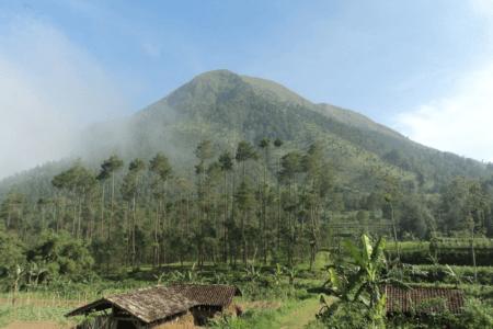 Paysage de la campagne de Malang en Indonesie
