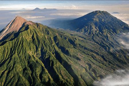 Volcan Merapi à Java
