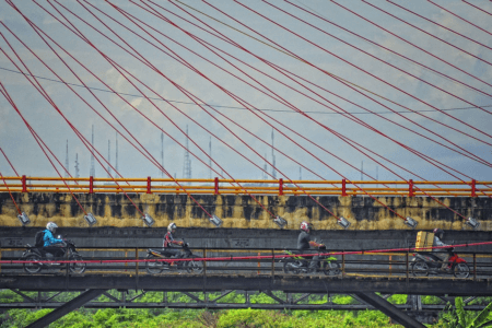 Ville de Semarang à Java en Indonesie