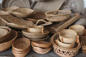 Artisanat en bambou du village de Loyok