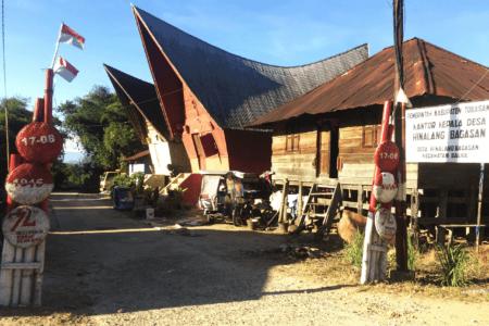 Village de Balige nord Sumatra en Indonésie
