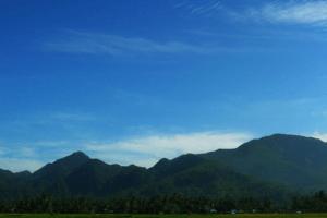 Chaine de montagnes Bukit Barisan Sumatra