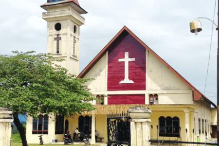 Eglise de Sipirok au Nord de Sumatra