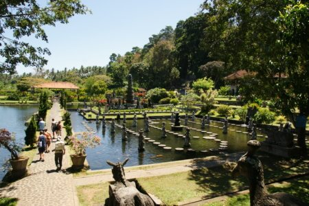 Les jardins de Tirta Gangga à Bali