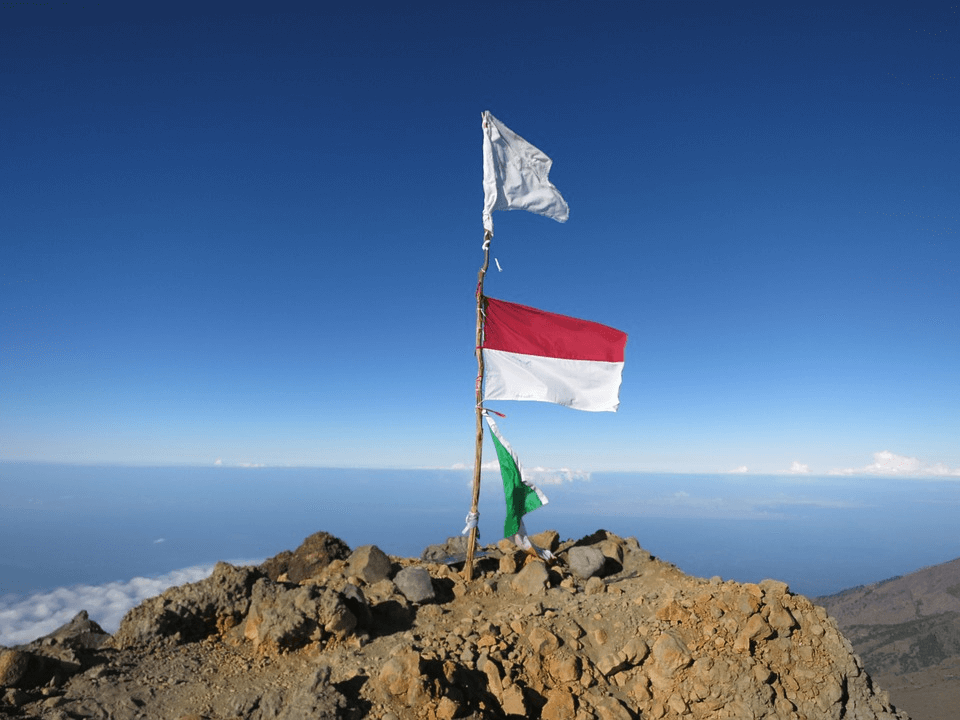 Sommet du Mont Rinjani à Lombok