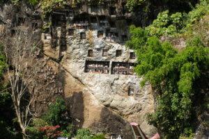 Tombeaux du village de Lemo Toraja sud Sulawesi