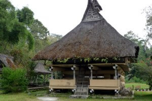 Maison Traditionnelle à Samosir lake Toba north Sumatra