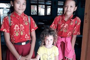 Visite d'une école Balinaise