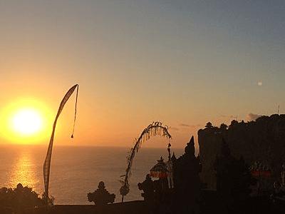 Coucher de Soleil à Tanah Lot sur l'ile de Bali