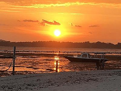 Coucher de soleil à Gili Air entre Bali et Lombok
