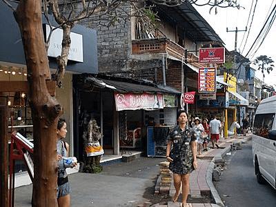 Centre ville d'Ubud à Bali
