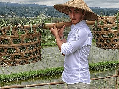 Voyageur Archipel360 à l'ecoferme Taman Sari Buwana sur l'ile de Bali