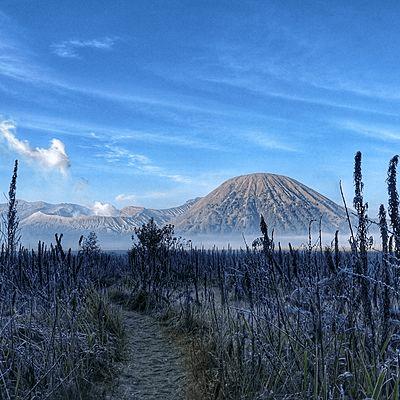 Paysage Mont Bromo dans la région de Surabaya en Indonésie