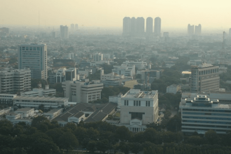 Ville de Jakarta capitale d'Indonesie
