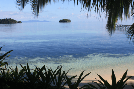 Ville cotiere d'Ampana en Sulawesi