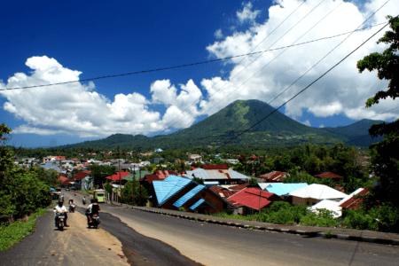 Ville de Tomohon en Sulawesi