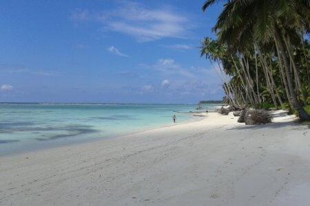 Plage de l'île de Siberut ouest Sumatra