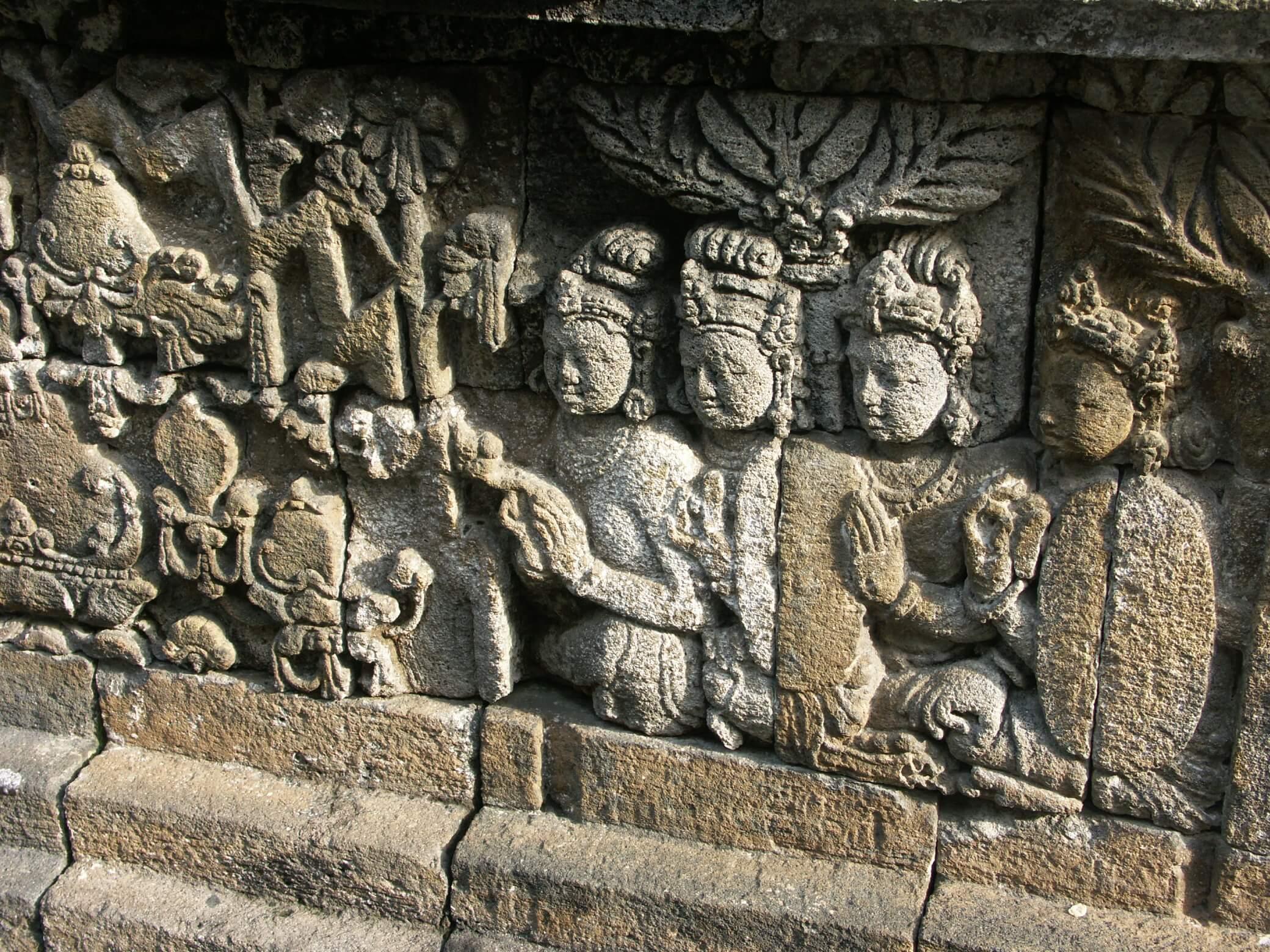 Jogyakarta temple de Borobudur reliefs