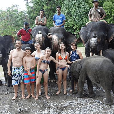 Famille de voyageurs Archipel360 à Sumatra