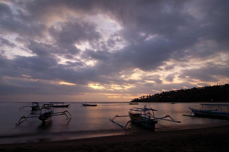Coucher de soleil a Senggigi