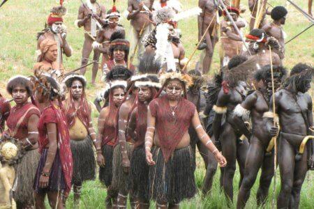 Festival de Baliem à wamena en papouasie occidentale