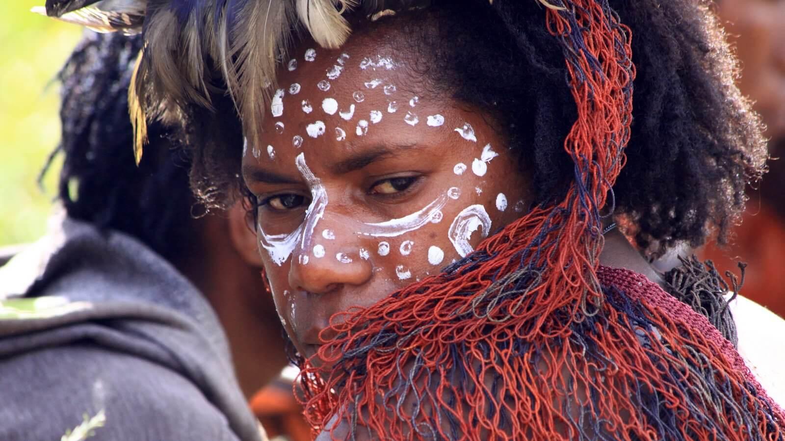 Baliem Festival a Wamena décorations Papouasie Occidentale