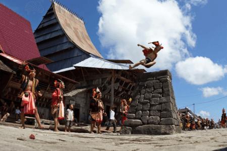 Village Nias discipline lompat batu Sumatra