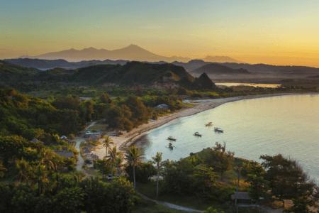 La plage de Kuta-Lombok, Lombok