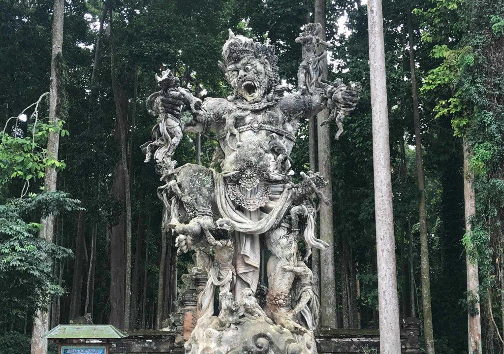 Sculpture du Barong de la foret des singes à Ubud