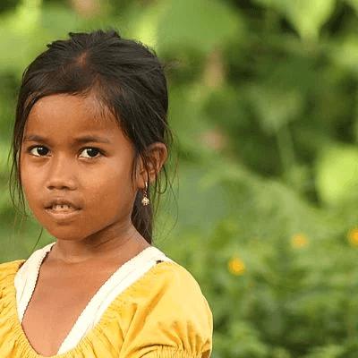 Portrait d'une jeune fille de Bali