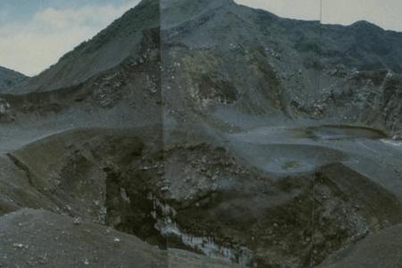Le cratere du volcan Kaba a Sumatra