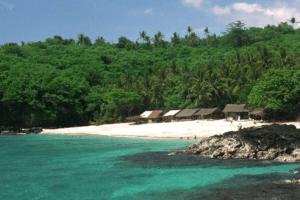La plage de Padang Bai à Bali