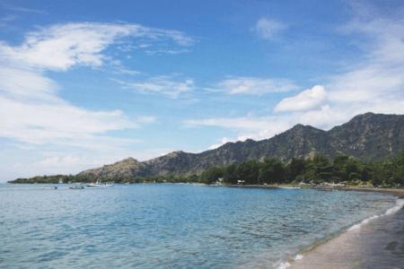 La plage de Pemuteran à Bali